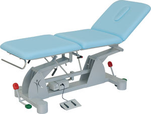 Electric Massage Table / On Casters / Height Adjustable / 3 Section