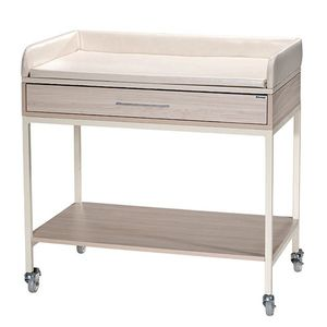 changing table rectangular on casters