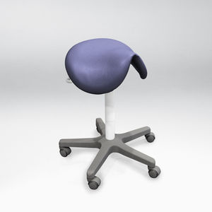 dental stool saddle seat on casters - Saddle Chair