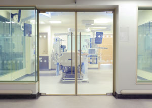 Hospital Door / Laboratory / Swing / Glass