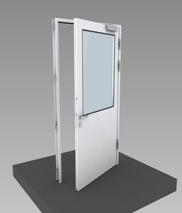 clean room door / swing / with glass panel / glass & Clean room door - All medical device manufacturers - Videos