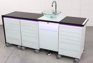 Dental Instrument Cabinet / For Dental Clinics / With Drawer / With Sink