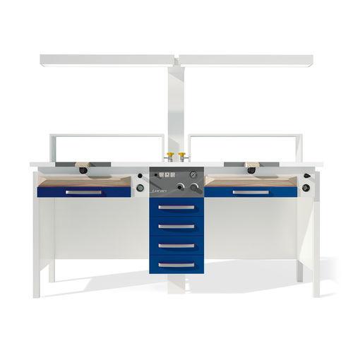 stainless steel dental laboratory workstation