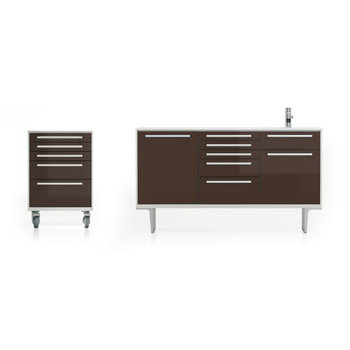 storage cabinet / for dental instruments / for dental clinics / with sink
