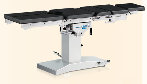 universal operating table / manual / height-adjustable / on casters