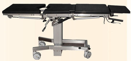 transport stretcher trolley / hydraulic / height-adjustable / with adjustable backrest