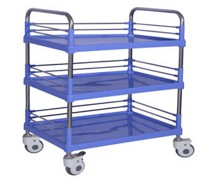 transport cart / dressing / with shelf / 3-tray