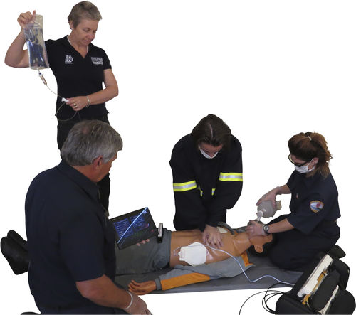 emergency care patient simulator / intubation / intravenous injection / whole body