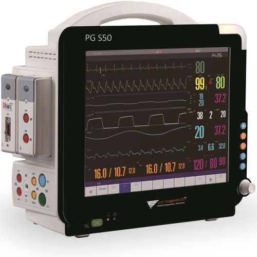 emergency patient monitor / ECG / temperature / CO2