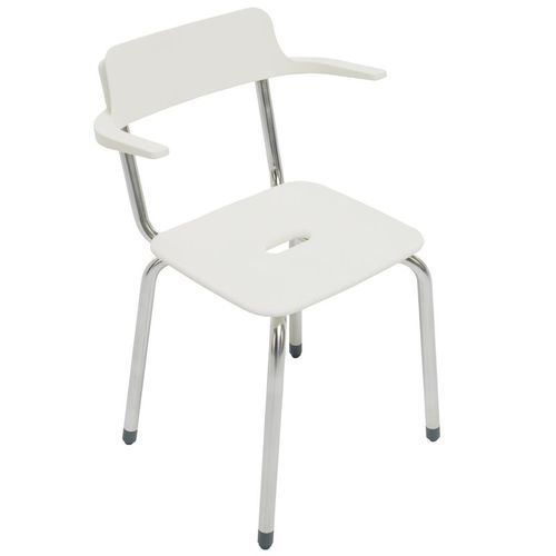 shower chair / with armrests / with backrest