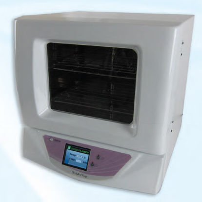 bench-top laboratory incubator / stainless steel