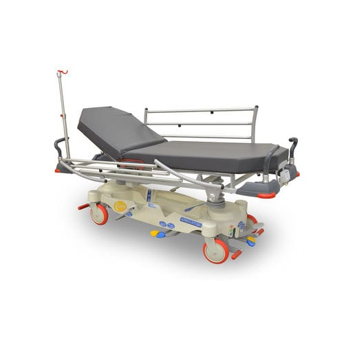 transport stretcher trolley / emergency / hydraulic / height-adjustable