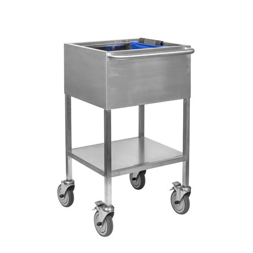 storage trolley / transport / medical records / 1-tray