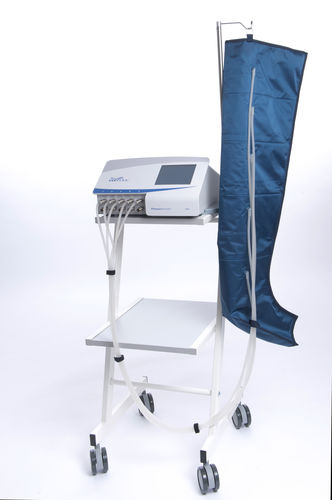 leg pressure therapy unit / trolley-mounted / 5 independent cells