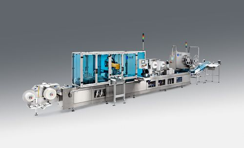 automatic thermoformer / for medical packaging / floor-standing