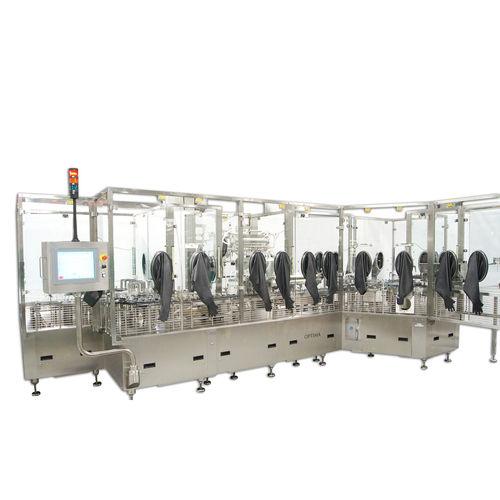 intermittent-motion filler / piston / rotary / for vials