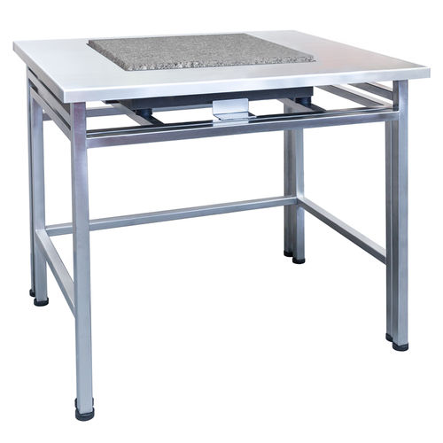 weighing table / rectangular / anti-vibration