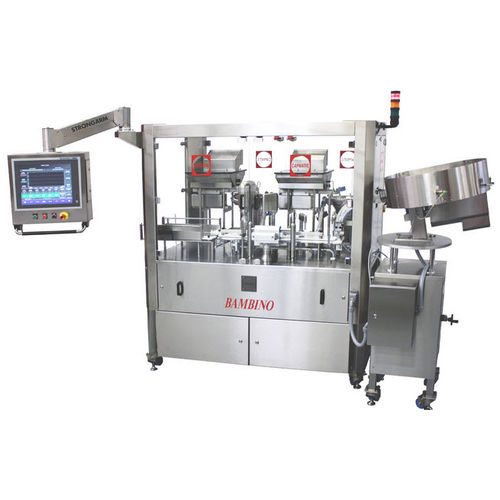 filler with capping system / compact / floor-standing / bottle