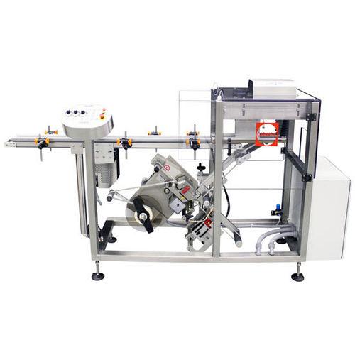 bottle labeling machine / for vials / pressure