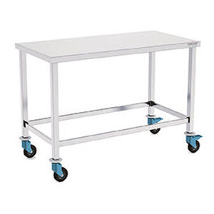 work table / for clean rooms / rectangular / on casters