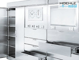 modular cabinet / sterilization / for sterile materials / stainless steel
