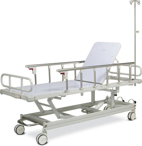 transport stretcher trolley / manual / hydraulic / height-adjustable