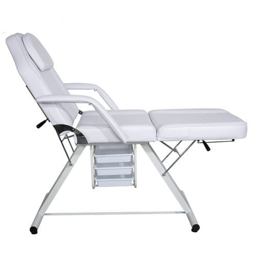 manual massage table / with armrests / 3-section