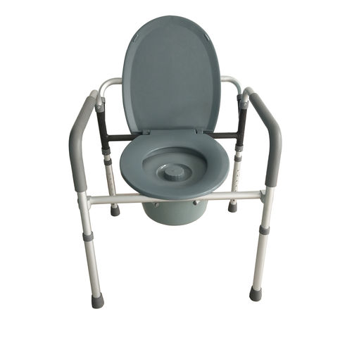 commode chair with armrests / with bucket / with footrest / for people with reduced mobility