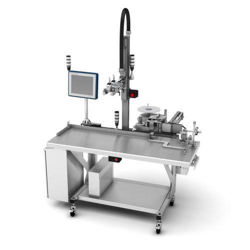 semi-automatic packaging machine / floor-standing / case / box