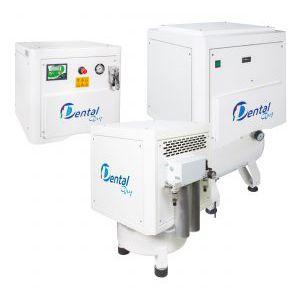 laboratory air compressor / rocking piston / silent / with air dryer