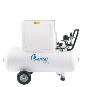 dental laboratory air compressor / piston / with air dryer / lubricated