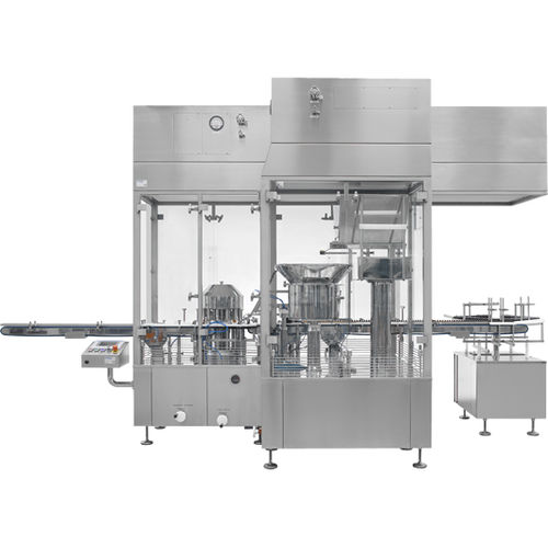 vial capping system / for the pharmaceutical industry / in-line / floor-standing