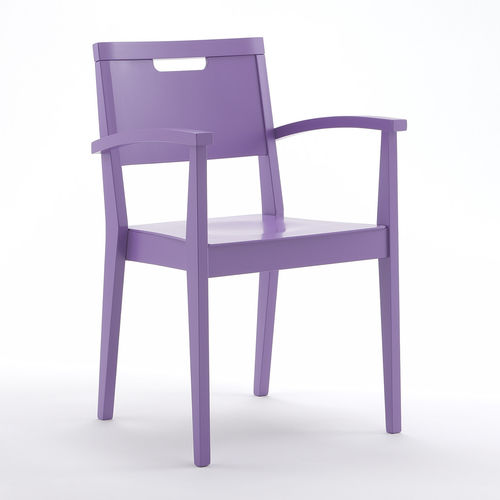 chair with armrests / stackable