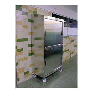 clean room cabinet / with sliding door / on casters / stainless steel