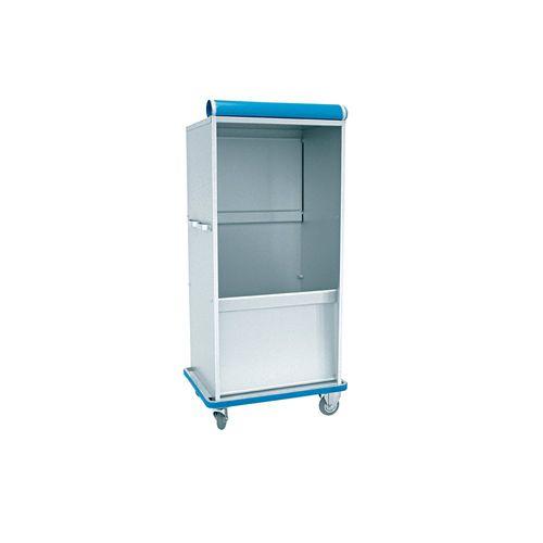 dispensing cabinet / transfer / for linen / with shelf