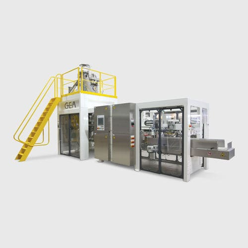 automated packaging system / floor-standing / for powders / bag