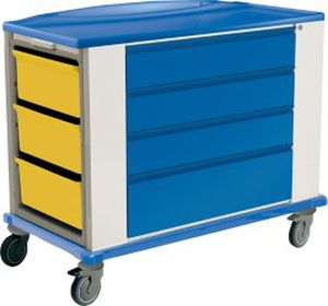 medicine distribution trolley / for medicine / with drawer / medical