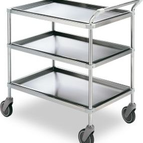 transport trolley / for general purpose / 3-tray / medical