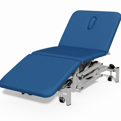 bariatric examination table / electric / height-adjustable / on casters