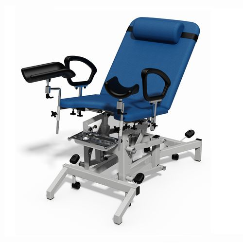 gynecological examination chair / electric / height-adjustable / with adjustable backrest