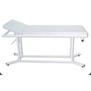 manual examination table / fixed-height / with adjustable backrest / 2-section
