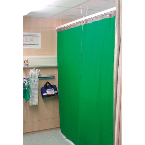 X-ray radiation shielding curtain / ceiling-mounted