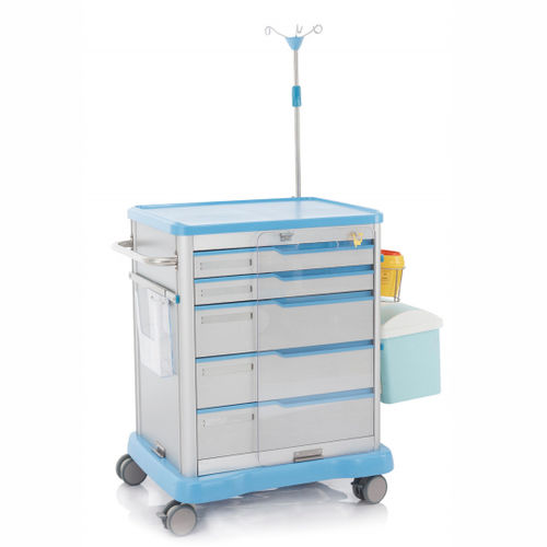 emergency trolley / for instruments / for wheelchair transfer / medicine