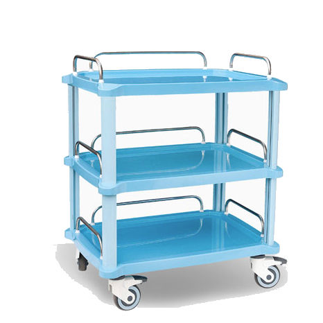 treatment cart / for general purpose / 1-drawer / 3-tray