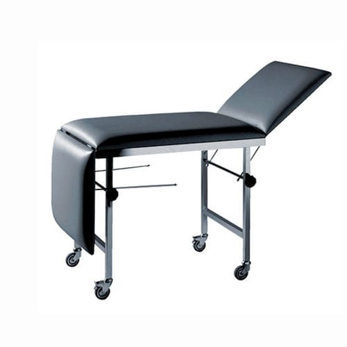 manual examination table / fixed-height / on casters / 3-section