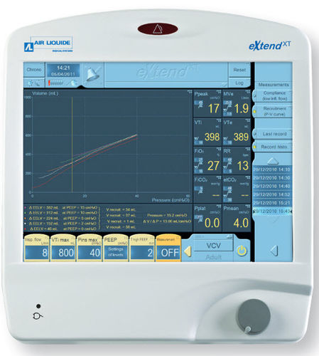 resuscitation ventilator / with touch screen