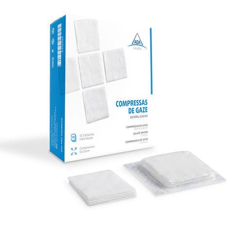 gauze swab / sterile / cotton