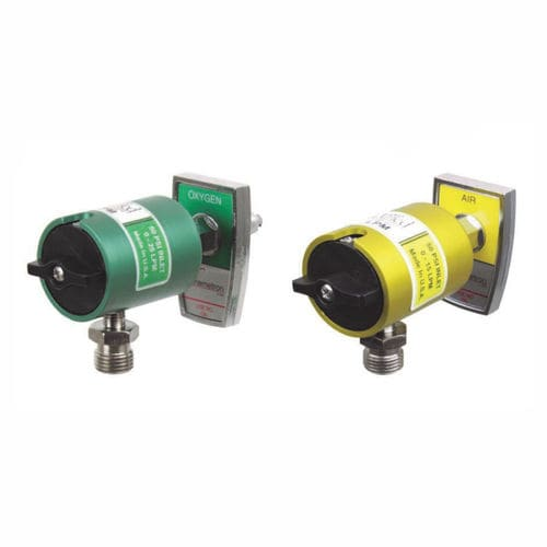 air flow meter / oxygen / with calibrated orifices / plug-in type