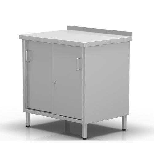 2-door cabinet / with tambour door / fixed