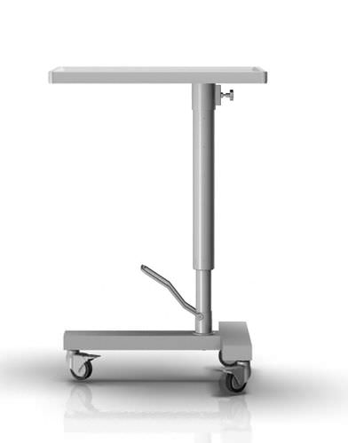 hydraulic Mayo table / on casters / height-adjustable